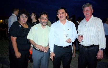 (L to R) Vicky Malhotra, Hotel & Tour, Dharamjeet Malhotra, Managing Director, Massic Travel Co., Ltd., Surat Mekavarakul, MD of Connor Pattaya Co. Ltd. and Hans Banzinger, Director of Swiss Paradise Resort Pattaya.