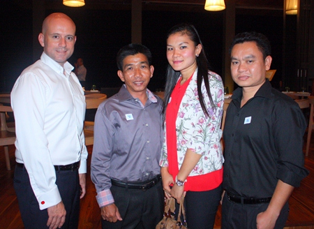 (L to R) Dominique Ronge, General Manager, Pichet Choompa, Chief Engineer, Netsuda Khankhaeng, Assistant Front Office Manager, Pisutwat Donsuea, F&B Manager of Centara Grand Pratamnak Resort Pattaya.