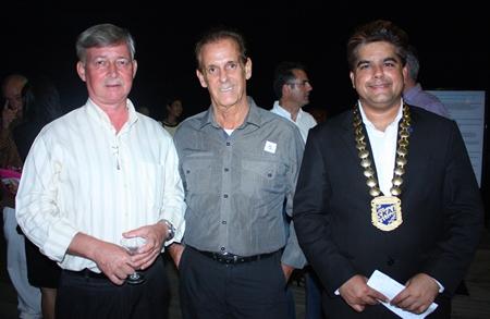 (L to R) Hans Banzinger, Director of Swiss Paradise Resort Pattaya, Daniel Herron, Travel Journalist & Photographer, LASplash Magazines worldwide and Tony Malhotra, President of Skål International Pattaya and East Thailand.