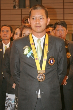 Bunanat Pattanasin, president of the Lions Club of Pattaya-Nongprue 2013-2014.