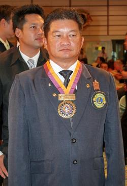 Vichan Suthampong, president of the Lions Club of Chonburi-Sriracha Club 2013-2014.