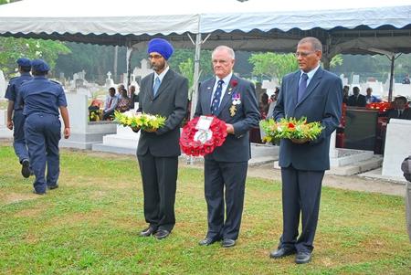 Chairman lays the Royal Marine Association Wreath at Gods Little Acre.