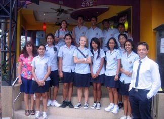 The Year 9 Spanish language students visit Sunrise Tacos in Jomtien.