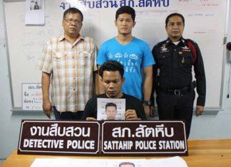 Chaiyawat Pimkae was finally apprehended in Sattahip 9 years after he committed armed robbery in Kamphaeng Phet.