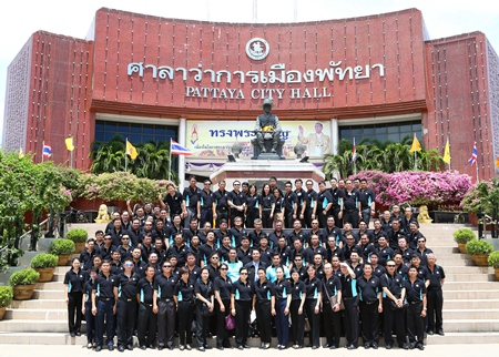 Police officials recently visited Pattaya as part of a continuing-education course at the Royal Thai Police Academy.
