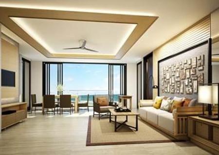 2 Bedroom Living Area.