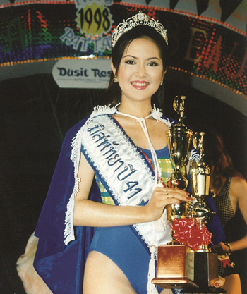 1998-Mayurin Pataraphanich was crowned the first ever Miss Pattaya at the Miss Pattaya 1998 contest at the Dusit Resort on April 25. The winner was co-incidentally also voted 'Miss Photogenic'. The fortunate girl received a prize of 100,000 baht, a diamond tiara, and many, many prizes.