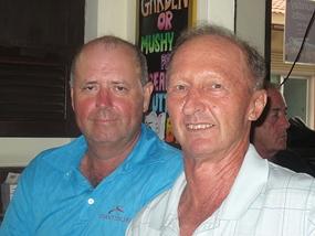 Bob Watson with Daryl Evans.