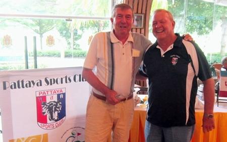 Eddie Beilby (left) - 50/50 winner.