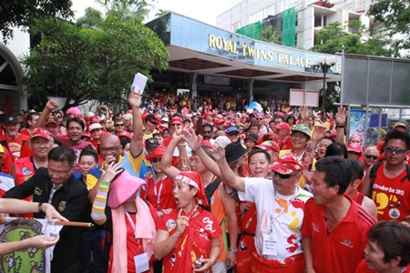 2,000 runners gather at the start line for the Pan-Asia Hash charity run on Friday, July 5 at the Royal Twin Palace hotel.