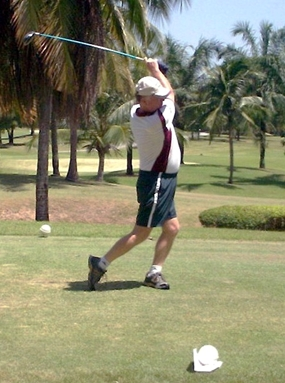 June Golfer of the Month, John Graham, tees-off a new campaign.