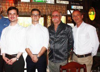 (L to R) Marius Mehner, Consultancy Services Manager GTCC, Niels Klindt, Junior Economist DE International, Horst Müller and Elmar Kleiner, OIA founder & MD, Office for Interior & Architecture Co., Ltd.
