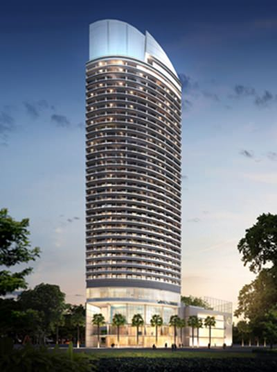 An artist's rendering of the planned Centara Grand Residence Tower.