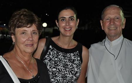 Father Ray's sister, Sharron, niece Amy, and good friend Brother Denis.