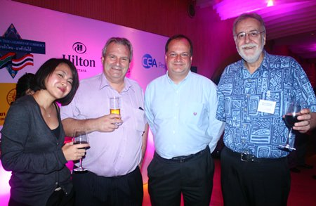 (L to R) Sumalee Marasri, Corporate Services Manager, Transpo International Ltd., Gregory Pitt, MD, Mackenzie Smith, Greg Watkins, Executive Director and Chris Thatcher, Director, British Chamber of Commerce Thailand.