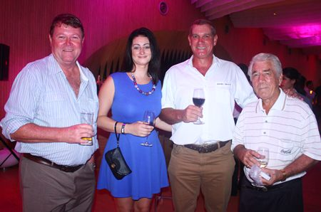 (L to R) Simon Erwiw, Deborah Philbrook, Vice Chairperson, Jesters Care For Kids, Simon Philbrook Client Advisor, MBMG Group and James Fortune, Owner, South African & Italian Delicacies.