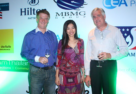 (L to R) Jeffrey Sage, Vice President Sales, APAC, Meru Networks, Nannapat Sriwalai, Business Development Director, Grant Thornton and Frank Holzer from General Motors.