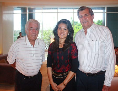 (L to R) James Fortune, owner of South African & Italian Delicacies, Renita Bromley and Maurice Bromley, GM-Thailand, GoIndustry DoveBid (Thailand) Ltd.
