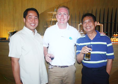 (L to R) Dhaninrat Klinhom, Marketing Communications Manager, Hilton Pattaya, Michael Parham, Business Development Manager and Conrad Lowe, Financial Controller, CEA.