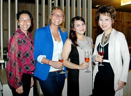 (L to R) Janjira Buanlee, PR Manager Pullman Pattaya Hotel G, Marie Gonter events & marketing director, Pullman Pattaya Hotel G; Juthamard Boonchinwudtikun, PR Executive Holiday Inn Pattaya and Nannadda Supakdhanasombat, director of MarCom Pullman Pattaya Hotel G.