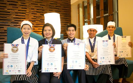 The Holiday Inn Pattaya team won four awards, including three silver and one bronze.