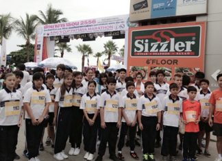On Sunday 21st July, Satit Udomseuksa students completed the 3.5 kilometer students race at the King's Cup Pattaya Marathon 2013. It is estimated 4,000 runners and walkers attended this year and was a sporting success. Congratulations to all the students for their participation.