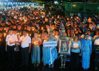 Rain didn't dampen the people's spirits at last year's royal birthday celebrations for HM Queen Sirikit.