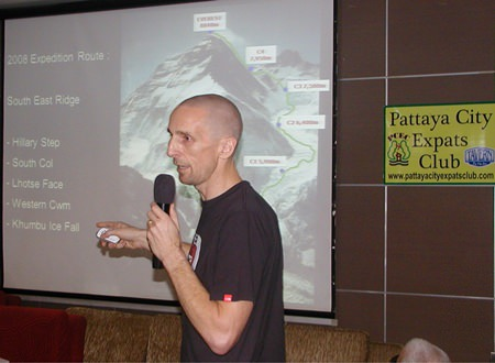 David Cole, PCEC's speaker for the 28th of July, is one of few Australians to have climbed all the highest peaks on seven continents. He shared with PCEC members the preparations and climb of Mt Everest, which he summited on 21st of May, 2008.