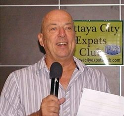 MC Roy Albiston opens the 21st July meeting of Pattaya City Expats Club by inviting new members & guests to introduce themselves.
