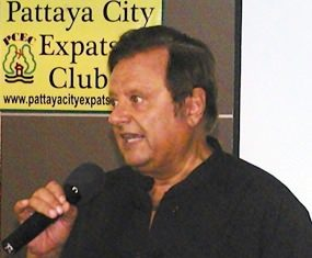 Bruce Gordon, host of the Pattaya City Expat Club's popular Mind Expansion Group, introduces PCEC's speaker for the 11th August, Michelle Coote.
