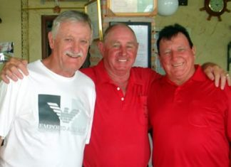(From left) John Player Bob Philp and Brian Maddox.