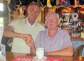 Walter Baechli (left) with Max Scott.