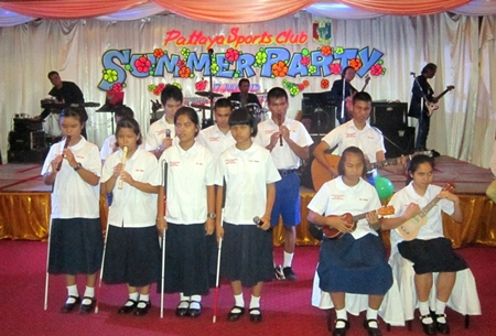 The Blind School's choir captured the hearts of the audience.