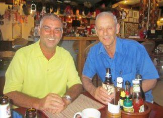 Tuesday flight winners - Mark West & George Bayley