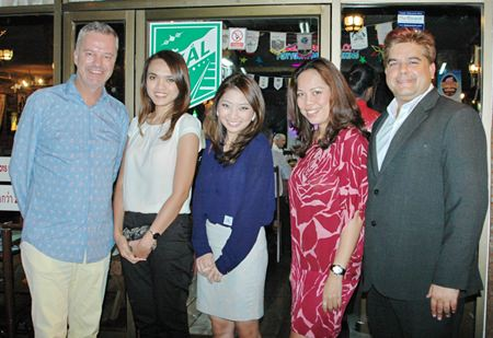 (L to R) Ingo G. Raeuber, Group GM of Pinnacle Hotels, Resorts & Spas, Yuwadee Prohkhuntod, Sales Manager of Holiday Inn Pattaya, Nattareutai Thanapoomikul, Asst Front Office Manager Holiday Inn Pattaya, Papakan Saguansap, Spa Manager of Holiday Inn Pattaya and Tony Malhotra, President of Skål International Pattaya and East Thailand.