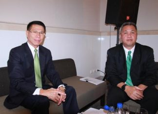 DASTA Deputy Director Dumrong Saengkaweelert and Thaweepong Wichaidit, manager for the Pattaya Special and Adjacent Areas Office, held another public hearing with tourism officials about problems that could be solved with government funds.