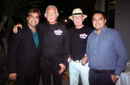 (L to R) Tony Malhotra, Jimmy Page, Alan Whiteway and Prince Malhotra celebrate the end of a great evening.