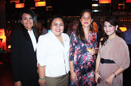 (L to R) Yaowaluck Bumrungthum, Restaurant Manager of Mantra, Pichchaya Nitikarn, Public Relations Manager of Amari Orchid Pattaya, Anaïs Marmonier, Regional Marketing Assistant Manager, VCT Group of Wineries Asia Pte., Ltd., and Juthamard Boonchiwudtikun, Public Relations Executive of Holiday Inn Pattaya.