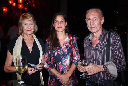 (L to R) Diane Barker, Anaïs Marmonier, Regional Marketing Assistant Manager, VCT Group of Wineries Asia Pte., Ltd., and Michael Barker.