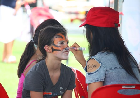 Face painting is always a popular draw at the fair (pun intended).