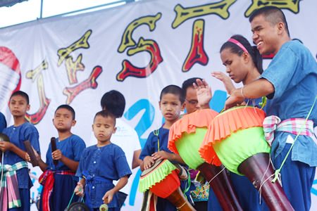 Children from Pattaya Redemptorist School for the Blind keep the beat.