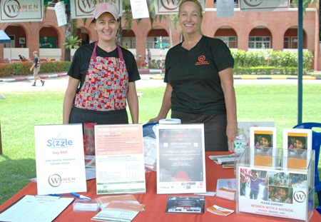 Women With A Mission were on hand to promote their worthy charity cause.