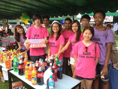 Garden International School's IB students ran various activities to raise money for charity.