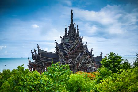 The Sanctuary of Truth, a cultural monument made completely from wood.