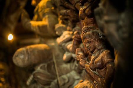 Carving based on traditional Buddhist and Hindu motifs in the Sanctuary of Truth.