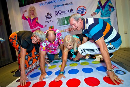 Twister - a game for making new acquaintances.