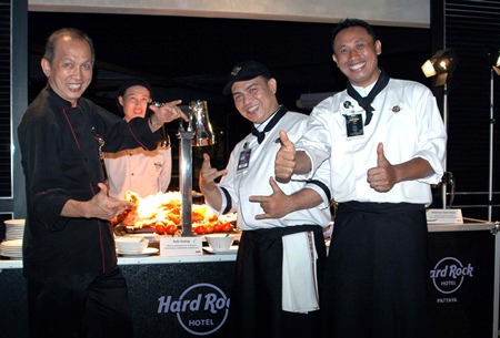 (L to R) Executive Chef Low Keng Meng, Sous Chef Alit Yulianto Dewa, and Chef de Partie Ida Bagus Suindra, the 3 outstanding chefs from Hard Rock Bali.