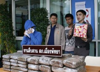 Thanatporn Jekmadan (left) has been arrested and charged with trafficking marijuana.