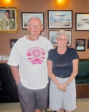Max Scott (left) with Rita Zoebelli.