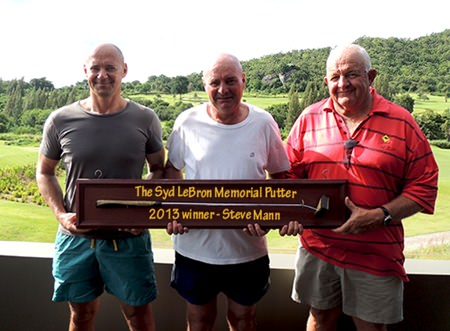 Hua Hin top three, from left: Andre Coetzee, Steve Mann and Barney Clarkson.
